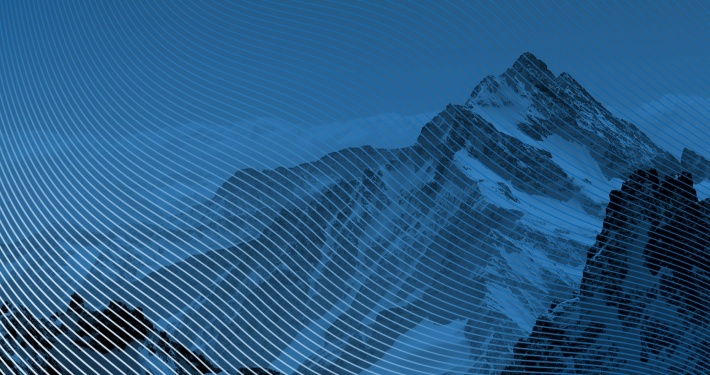 Bergsee, blau – Präsentationsdesign