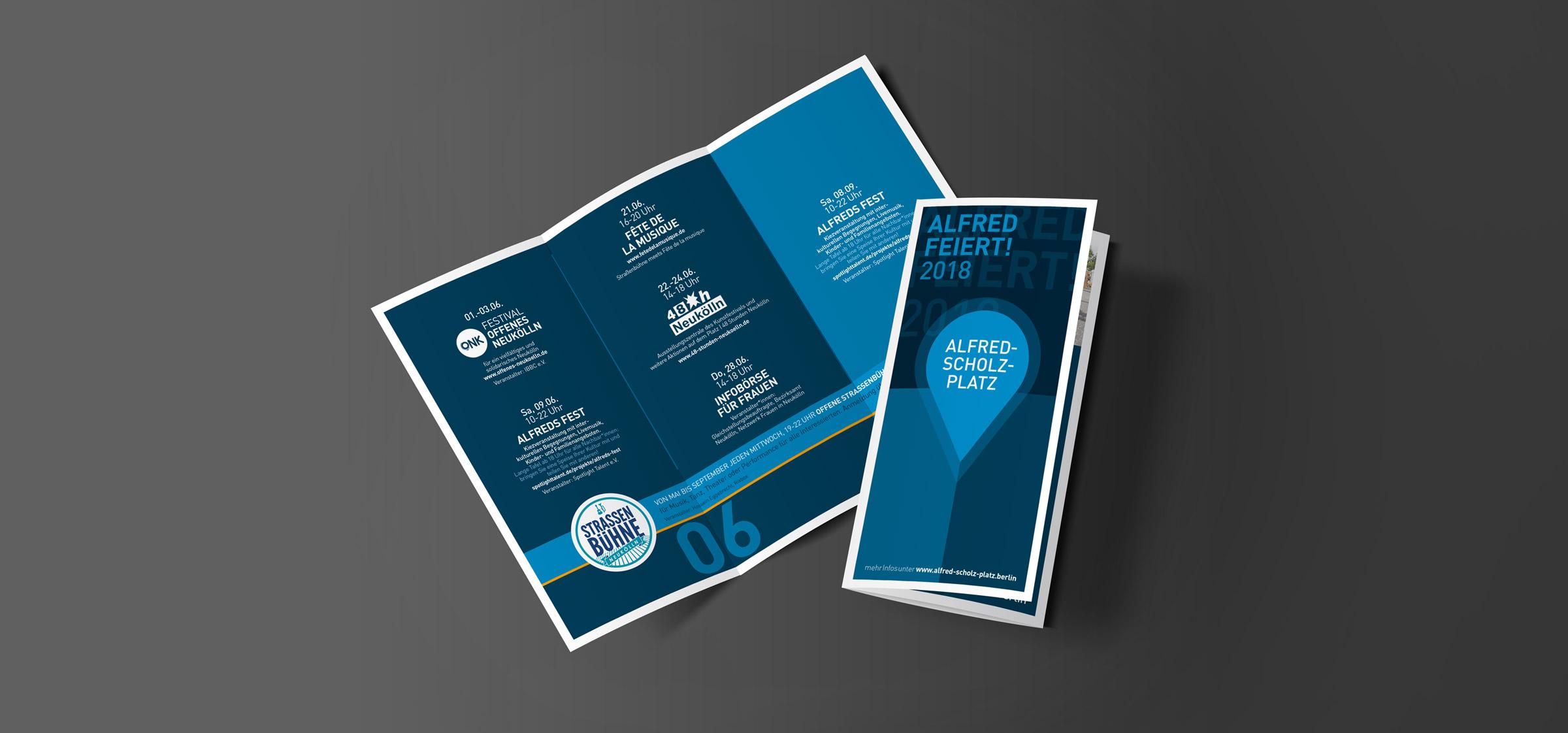 "Bergsee, blau – Corporate Design ""Alfred Scholz-Platz"""