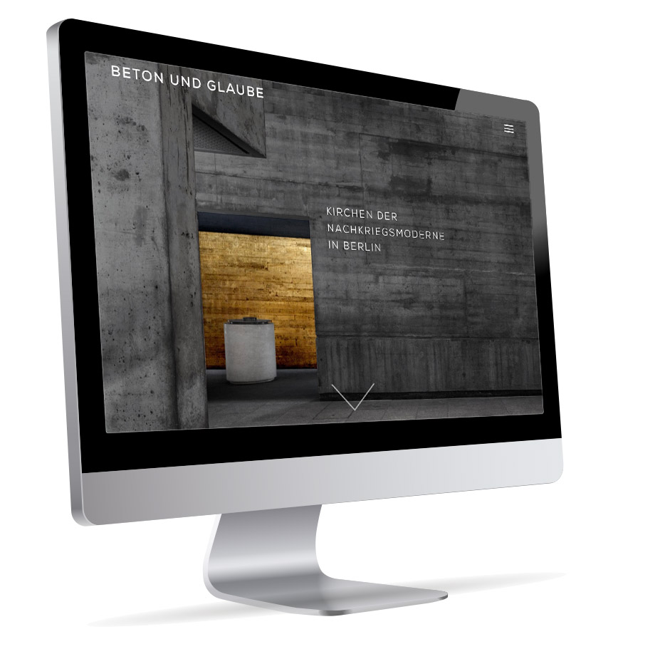 Beton und Glaube – Webdesign